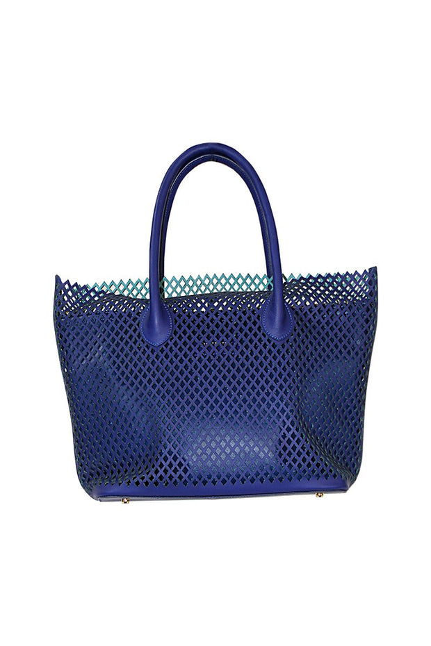 Large Perforated Leather Tote - available in mutiple colors