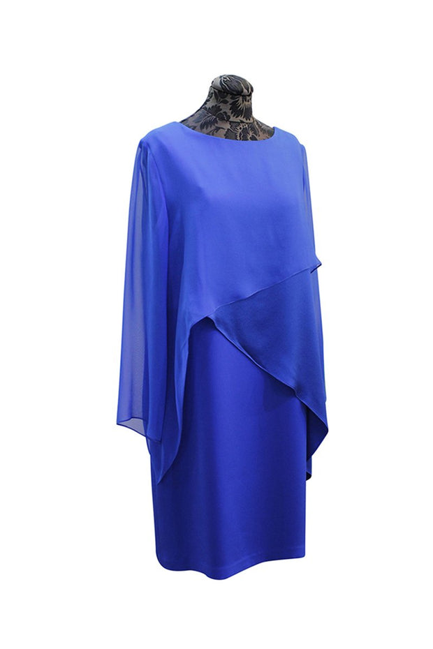 Emmelle Silk and Chiffon Layered Dress