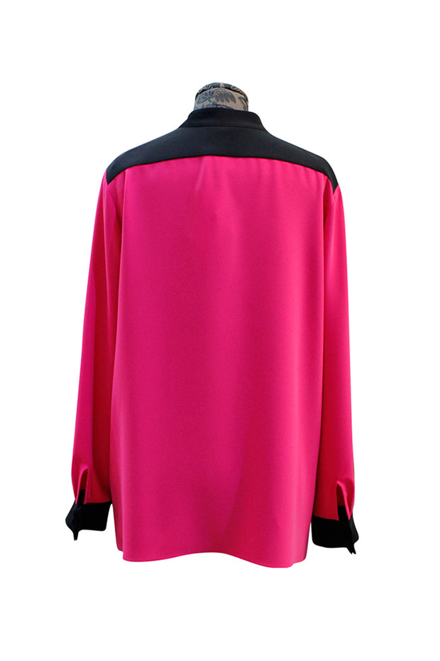 Emmelle Mandarin Collar Step-Hem Blouse - available in two colors