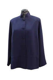Emmelle Luxurious Crepe Mandarin Collar Panel Jacket