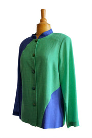 Emmelle Micro Linen Mandarin Jacket - available in two styles