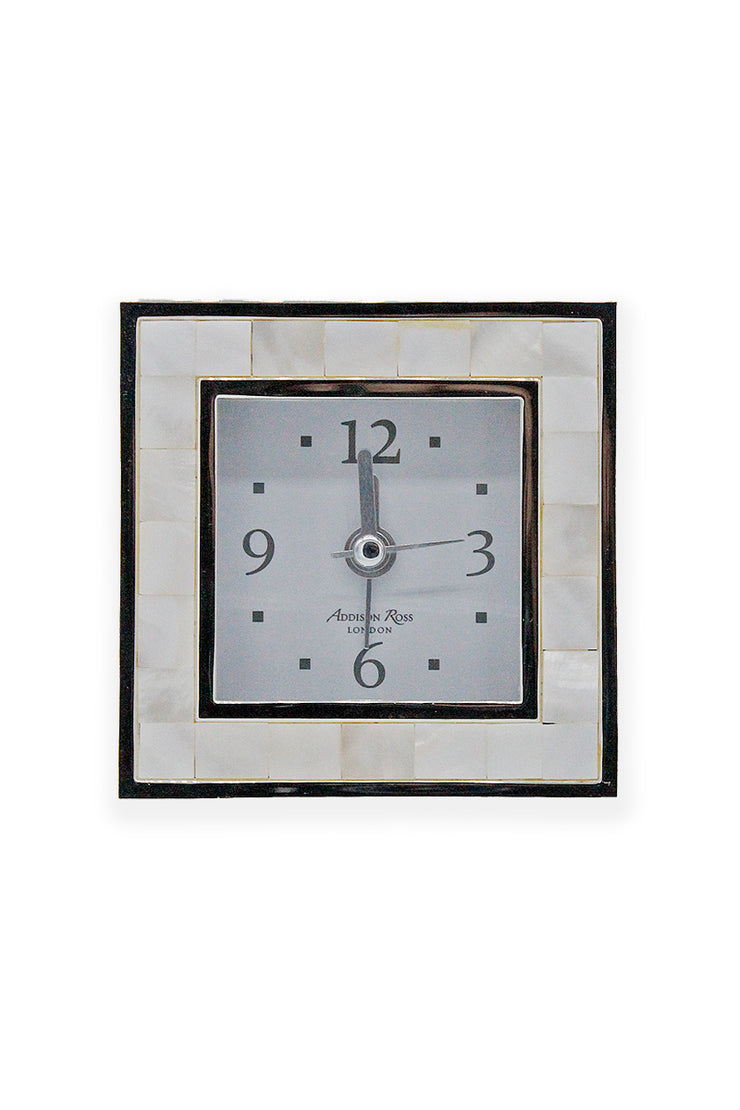 Mother of Pearl Square Alarm Clock