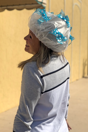 Shower Cap in Signature Blue Polka Dots