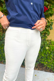 Lior Sasha Denim Pant - available in white or khaki