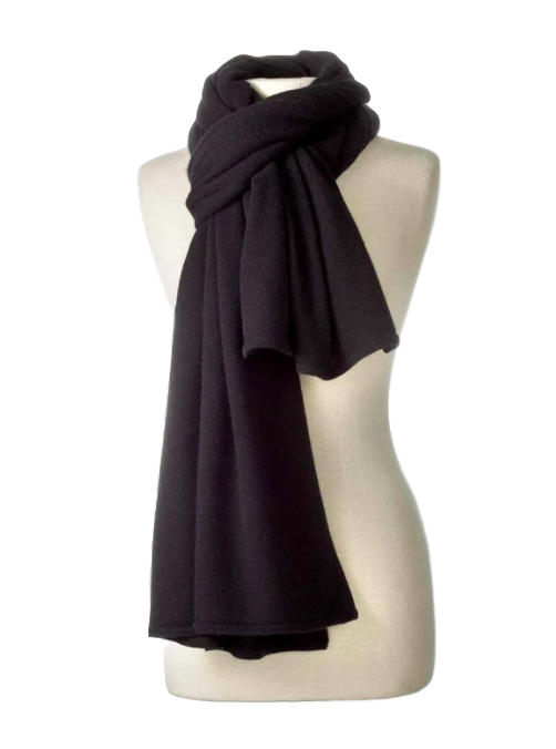 Cashmere Travel Wrap in Black