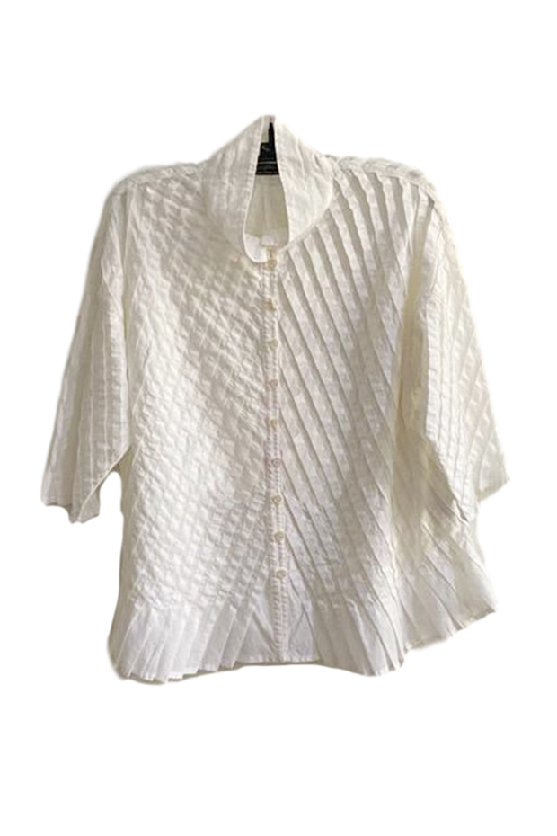 Yacco Maricard Pintuck Cotton Blouse
