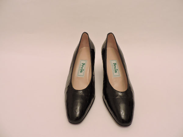 Timeless Cocco Stamped Patent Leather Pump Shoe