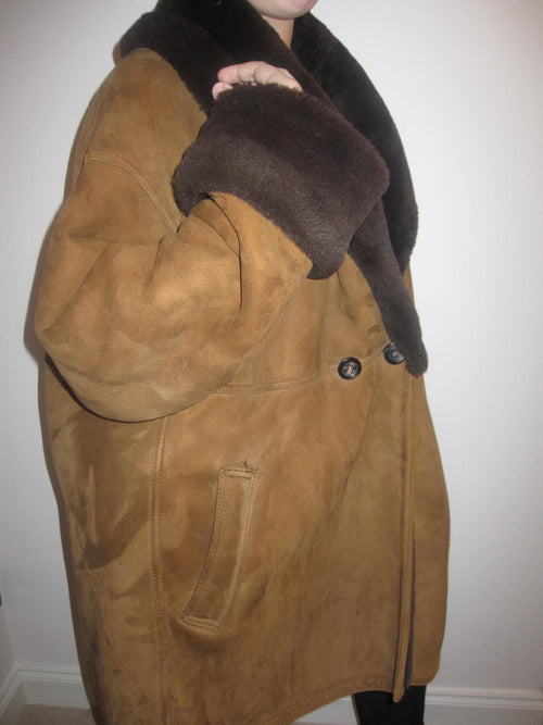 Oversize Shearling Swing Style Coat