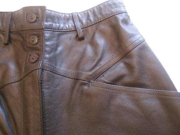 Classic Leg Nappa Leather Trousers