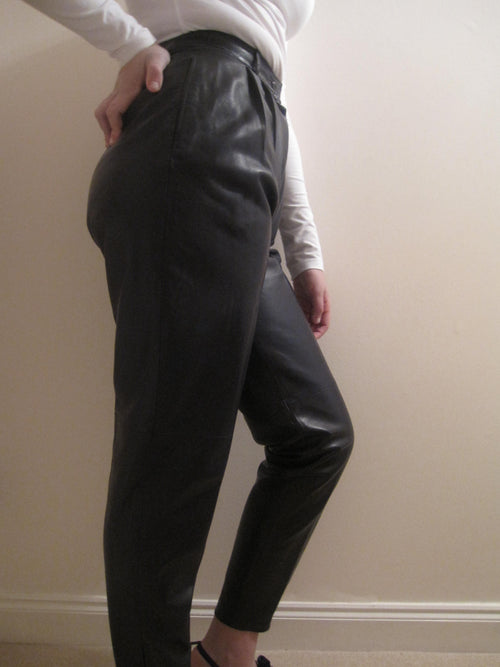 Classic Nappa Leather Trousers