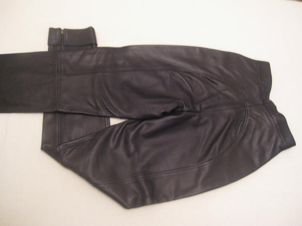 Ankle Zip Nappa Leather Trousers