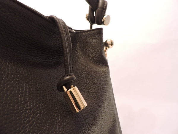Grained Calf Leather Shoulder Bag