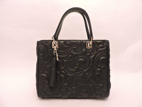Double Handle Small Tote Bag With Detachable Shoulder Strap.