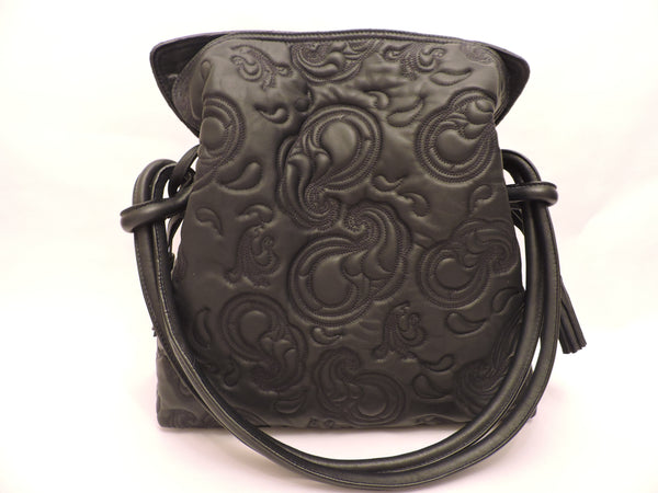 Drawstring Nappa Leather Shoulder Bag