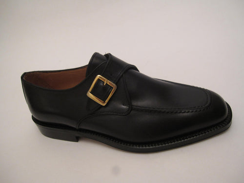 Fine Calf Leather Single Buckle Monk Strap