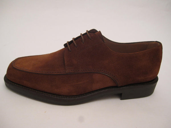 Suede Rubber Soled Lace-Up