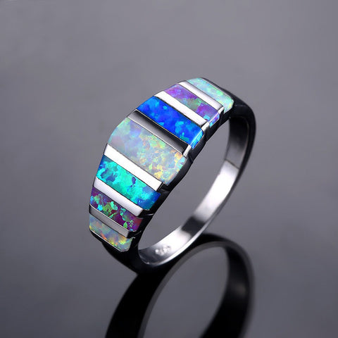 Multi-Colored Opal Ring