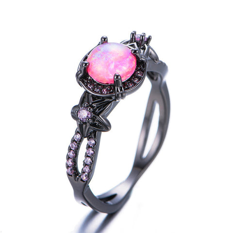 Pink Fire Opal Gemstone Ring