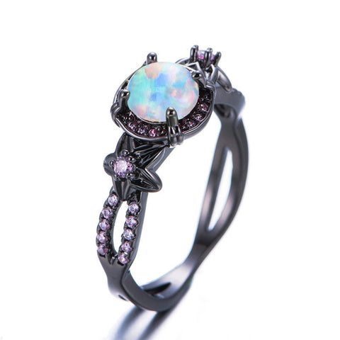 Pink Mix Opal Gemstone Ring