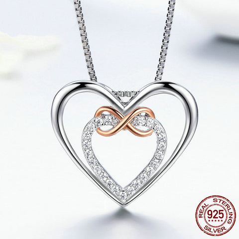 Infinity Double Heart Necklace