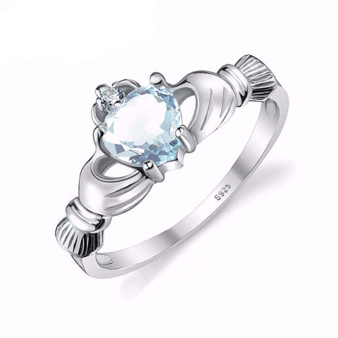 Aquamarine Tiara Ring