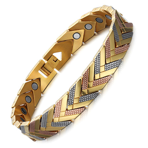 Magnetic Chevron Bangle