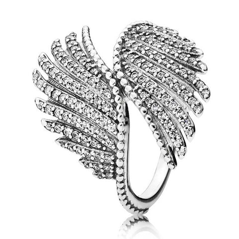 Dual Angel Wings Ring