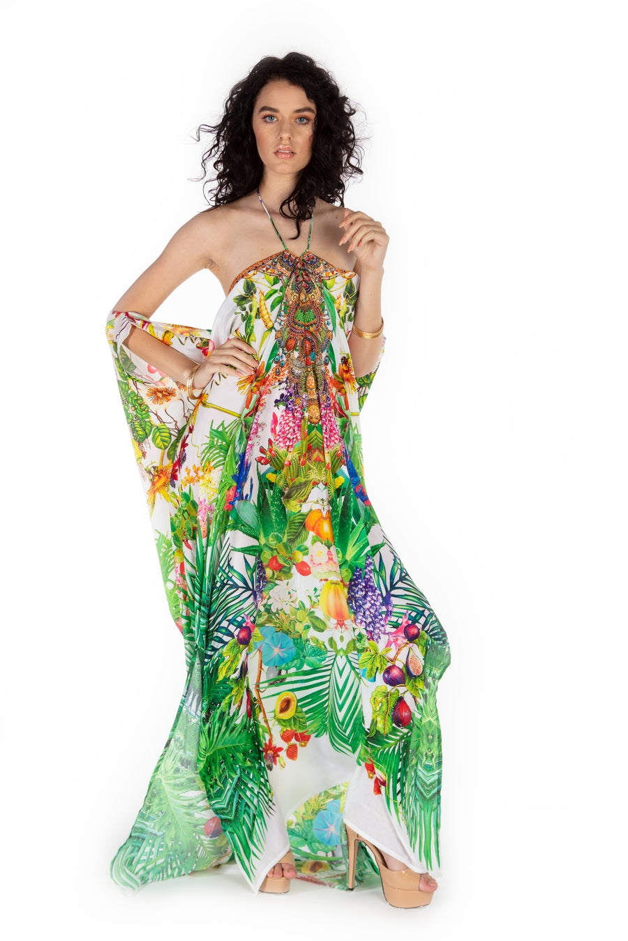 Arizona Cactus Kaftan Dress