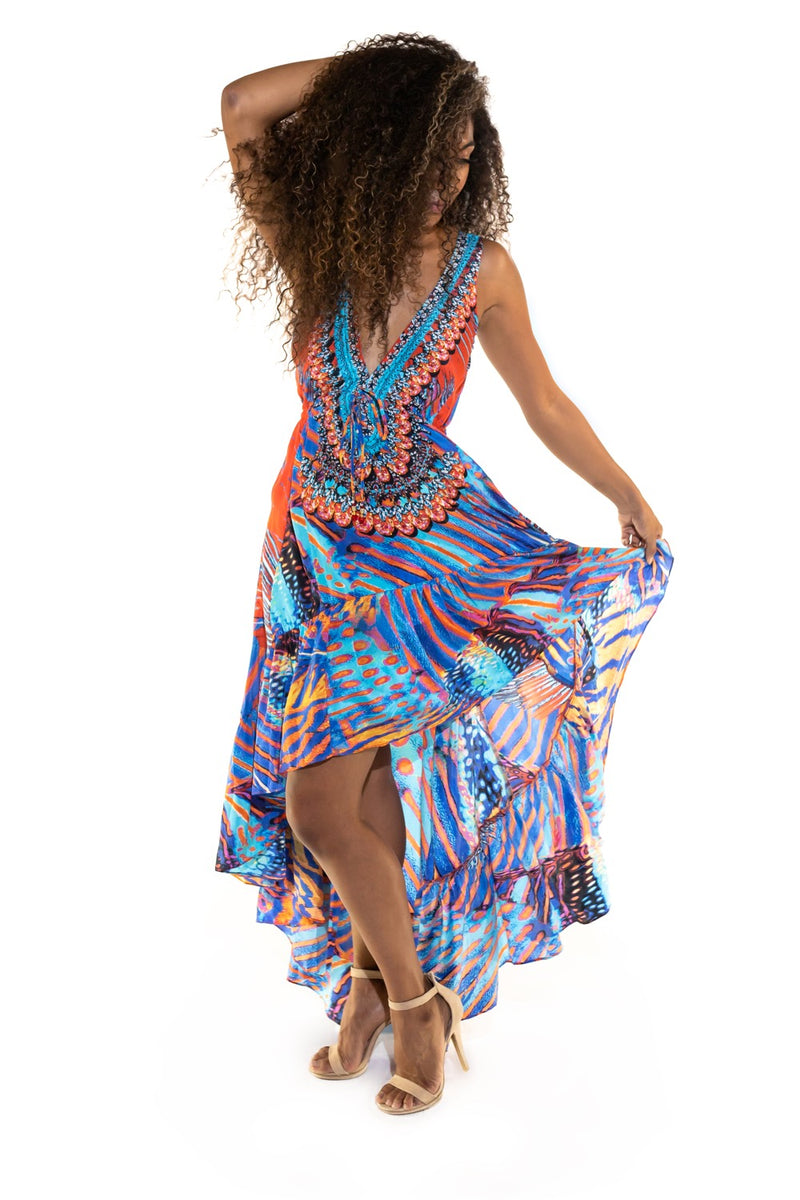 Havana High Low Dress