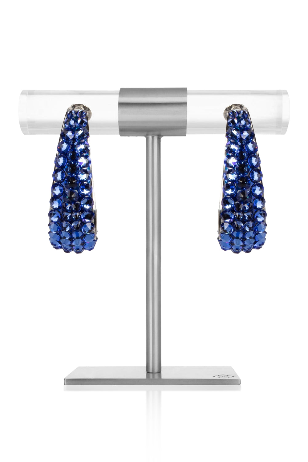 September - Sapphire Crystal Earrings