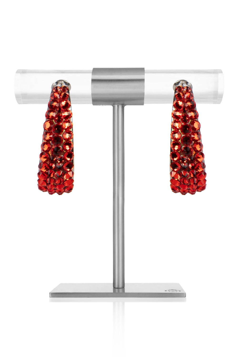 Scarlet Crystal Earrings