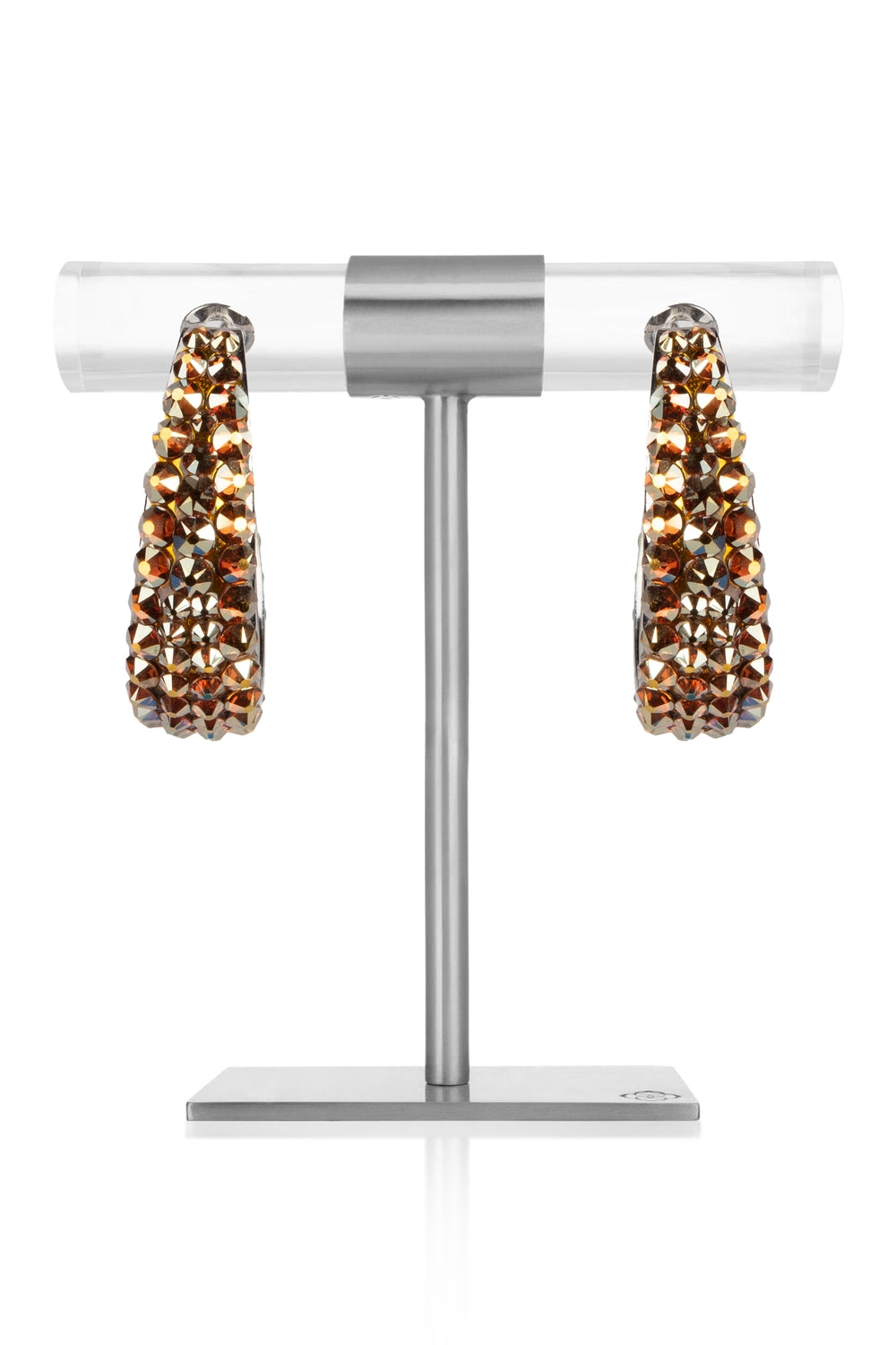 Smoked Topaz Crystal Earrings