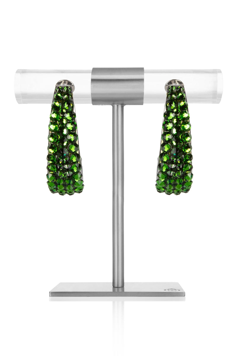 August – Peridot Crystal Earrings
