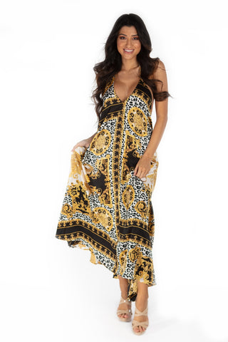 Zimbabwe Long Maxi Dress With Pockets