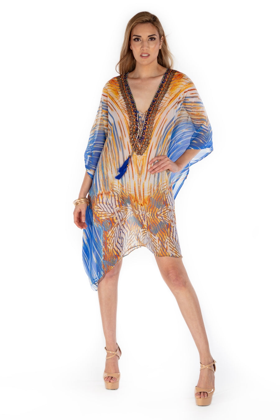 Florentine Cover-Up Kaftan