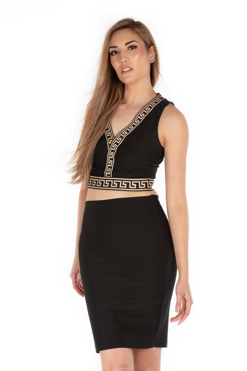 Greek Goddess Sleeveless Crop Top