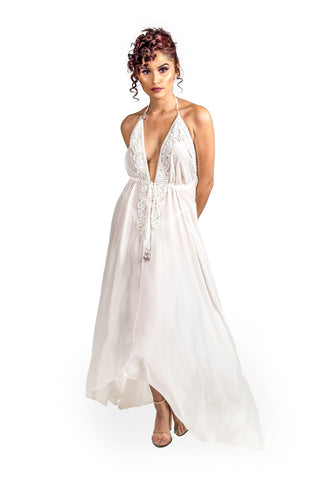 Romanza High Low Halter Dress