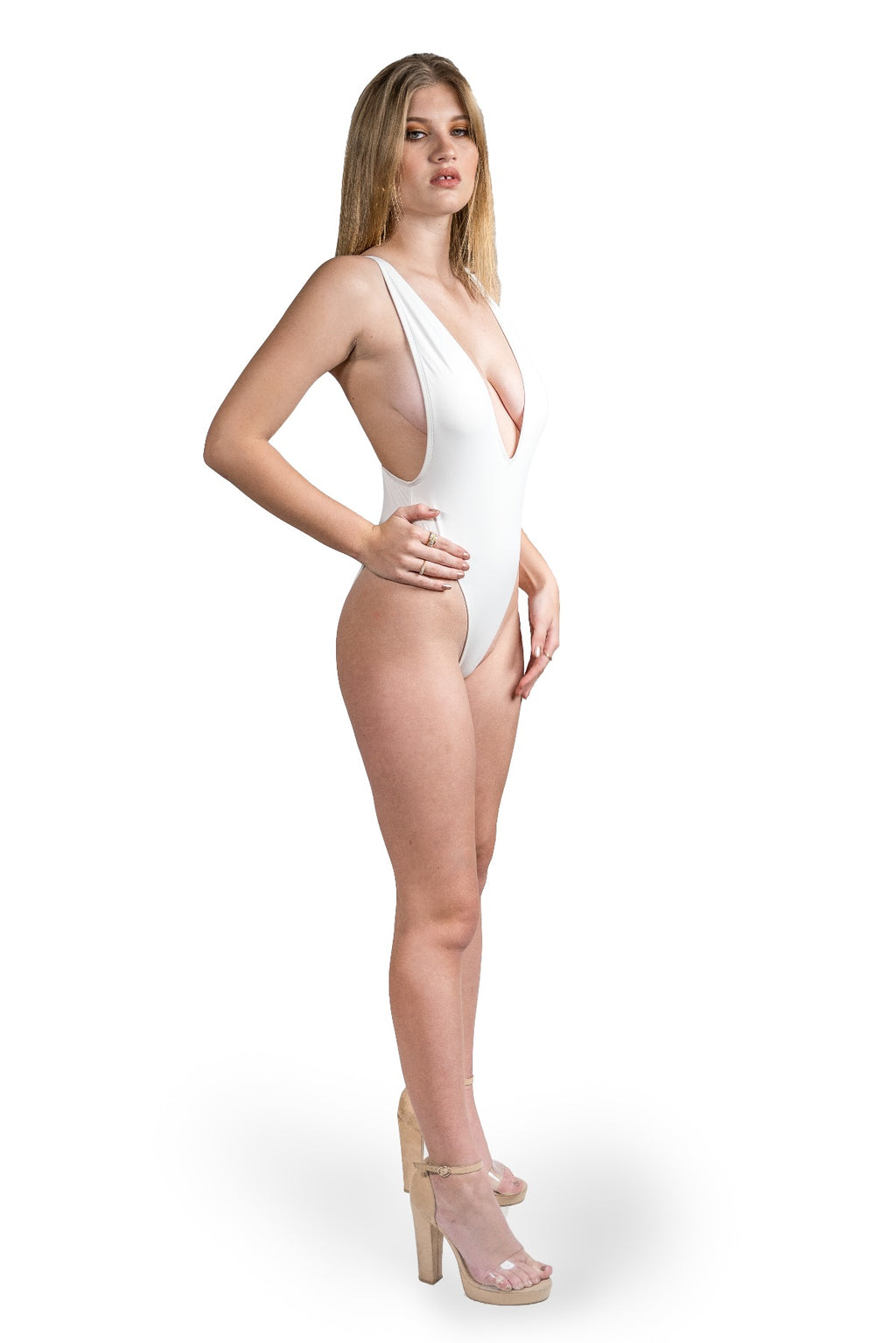 Alessandra One Piece Swimsuit- White