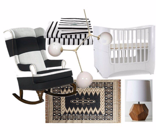 black and white traditional wingback rocking chair with nailhead trim modern nursery decor