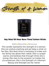 Load image into Gallery viewer, Strength of a Woman Luxury Soy Candle