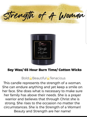 Strength of a Woman Luxury Soy Candle