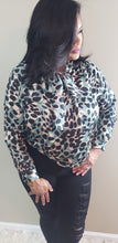 Load image into Gallery viewer, Andrea Animal Printed Bowtie Blouse