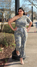 Load image into Gallery viewer, Camo One Shoulder Jumpsuit