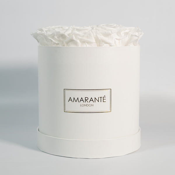 Medium Round Hat Box - White