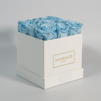 Fragrant birthday flowers with delicate light blue petals