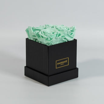Magnificent Mint Green Forever Roses in a rose box