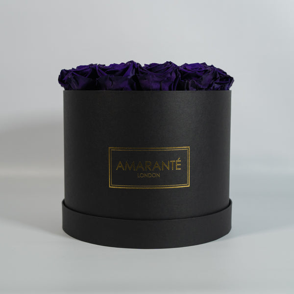 Large Round Hat Box - Black