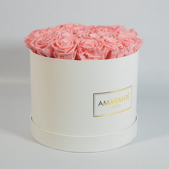 Wedding Anniversary Flowers - Infinity Roses in a Hat Box
