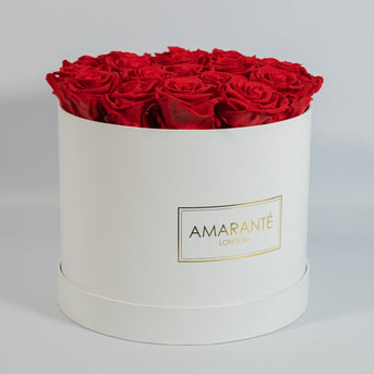 Rose box containing up to 22 large forever roses