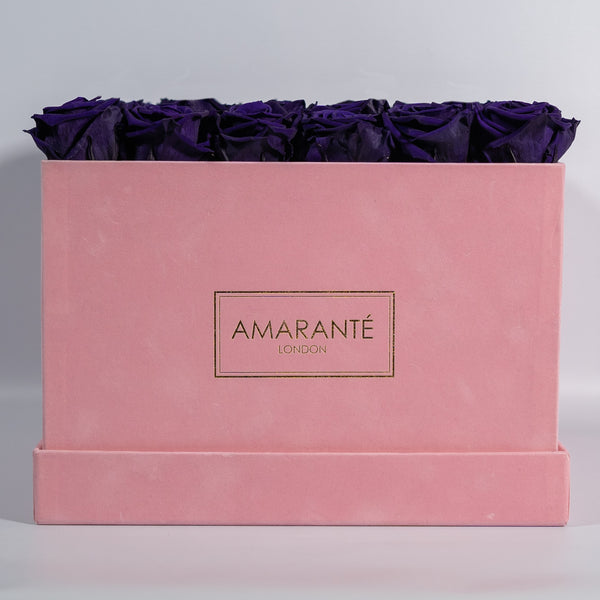 Pink Extra Large Square Suede Hatbox